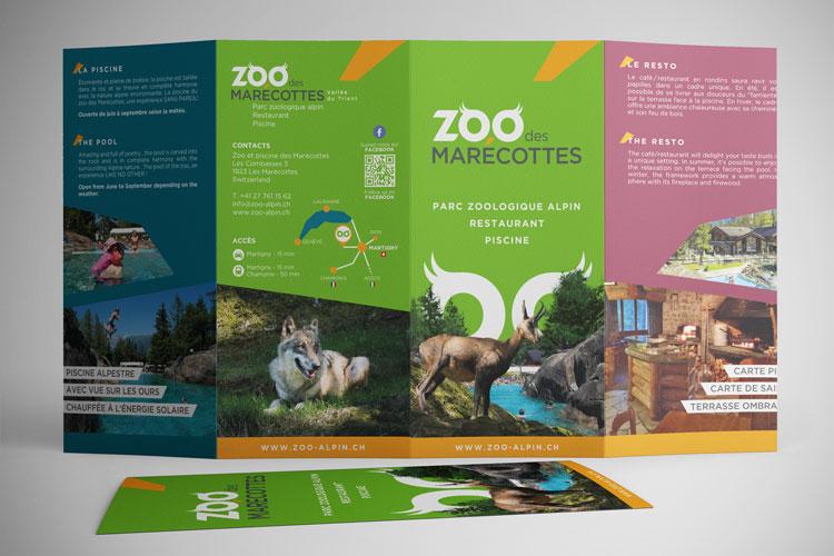 Plan «Zoo des Marécottes» 2016